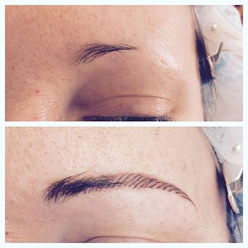 maquillage semi-permanent des sourcils